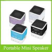 Wholesale Usb Mini Audio Speaker Portable Auminum Alloy Digital USB Fm TF Card Speaker With Led Display Screen
