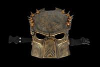 Bauta Mask alien mask deluxe - 30pcs EMS Handmade Resin Sliver Bronze Alien VS Predator Warrior Deluxe Movie Mask AVPR Mask