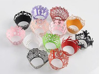 Wholesale Art paper cup cake wrapper Cricut Lite Cupcake Wrappers Cartridge Lace for wedding party