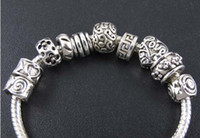 Wholesale New Tibetan Silver Flower Dots Spacer Charms Beads Fit European Bracelet