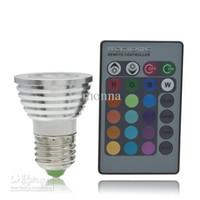 Wholesale 30pc High power RGB Led light W GU10 Remote Control LED Bulb Color Changing RGB LED Lamp N