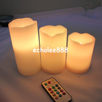 Wholesale Remote Control Pillar Wax LED Candle lights With Color Changing Remote Control