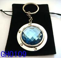 Wholesale 3cm Acrylic Crystal Folding Purse Hanger Bag Hanger Bag Purse Hook Handbag Holder For Lady mixed color GH0109
