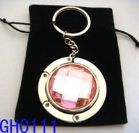Wholesale 3cm Acrylic Crystal Folding Purse Hanger Bag Hanger Bag Purse Hook Handbag Holder For Lady mixed color GH0111
