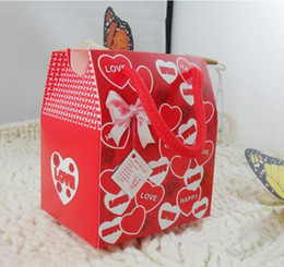 100pcs Lot, New Brand Wedding Favor Hand Carry Love Candy Present Boxes Single Copper Paper