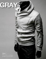 Wholesale 0202 Brand New Diagonal zipper Men s Hoodies Sweatshirts Size M L XL XXL XXXL