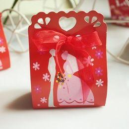 80pcs Lot, Wholesale - Red Europe Groom Bride Joyful Candy Box Of Personality