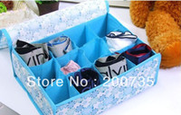 Wholesale Charcoal fibre storage box cute underwear foldable fibre lovely boxes for bra underwear necktie sock