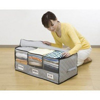 clothes box storage - Storage Bag Received Box Big Bamboo charcoal with Windows classification clothing finishing box