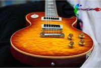 achat en gros de miel éclatement guitare-Guitare Électrique Custom Shop dans le Miel rafale de Flamme Sunburst livraison Gratuite