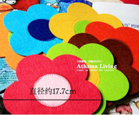 Wholesale funlife Creative Gifts quot Eco friendly Flower Insulation Felt Cup Tea Coasters Placemat Mat