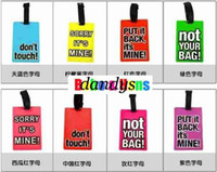 Wholesale New Letter colors PVC Luggage tag travel tag label