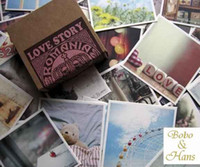 Wholesale New set Vintage romania love story greeting card birthday card