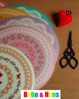 Envío gratuito/Nueva lindo encaje de flores de impresión de plástico mouse pad / hermosa estilos alfombrilla de creative / Gif