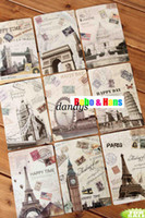 Wholesale New set vintage style world city series postcard greeting card