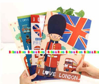 Wholesale New cute London File folder A4 documents file bag stationery Filing Production Whole