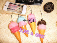 squishy - New Cute sweet Ice cream squishy charm mobile phone pendant strap