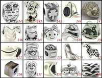 Wholesale 15 off HOT bracelet accessories charm beads for Pandora Silver beads charm Fit Charm ilia amp Biagi Bracelet necklace
