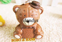 bear cookies - New Cute cookie bear squishy charm mobile phone strap Pendant