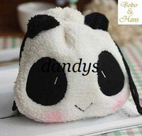 Pencil Bag cute drawstring bag - New cute panda Shrink Pencil bag drawstring Cosmetic bag storage Pouch