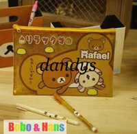 wholesale pvc cosmetic bags - NEW cute bear designs Pencil bag PVC Rilakkuma cosmetic bag Fashion Gift Wholesal