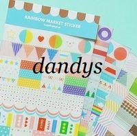 Single-Sided deco - New Set PVC cute cartoon Rainbow Diary Sticker deco Index Label