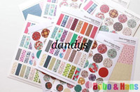 Wholesale New set vintage paper pvc sticker Decorative fabric print Label Multifunct