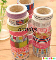 Wholesale New vintage tower amp lace series washi masking Tape Decoration stationery Tape Stic