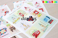 Wholesale NEW pack vintage stamp paper sticker Decoration label
