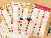 Wholesale New set cartoon animals paper note sticker sticky notepad label memo pads
