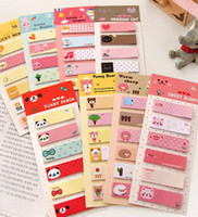 Wholesale New cartoon animals style Notepad sticky note Memo message post
