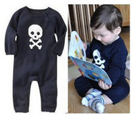 Spring / Autumn baby skeletons - Autumn Baby rompers human skeleton pure cotton infant bodysuits punk cartoon baby One Piece