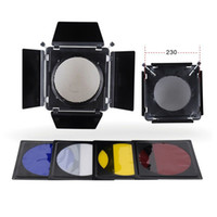 Wholesale New Metal Elinchrom Barn Door Filter Kits for Elinchrom Standard Reflector mm E0231A