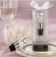 Wholesale Wedding Favor Wedding Crystal Letter LOVE Wine Bottle Stopper Min Order piece Freeshipping