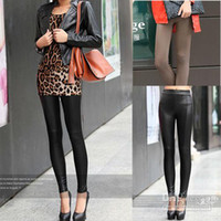 Leggings Skinny,Slim Women 2014 Sexy Ladies Faux Leather Leggings Trousers Tights YLG-0037
