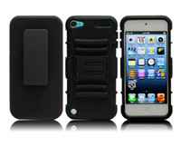 Wholesale hybrid in Holster Kickstand Belt Clip Back Defender Skin Cover for ipod touch itouch g