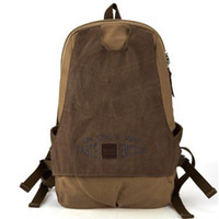 Wholesale 2012 new arrival cotton retro simple man canvas backpack shoulder bags travel bag