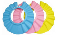 Shower Caps hair washing hat - Soft Adjustable Baby Kids Children Bath Cap Shampoo Shower Hat Wash Hair Shield