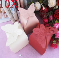 Wholesale 10pcs set Wedding Party Favors Butterfly Candy Sweet Boxes Baby Shower Gifts Pack