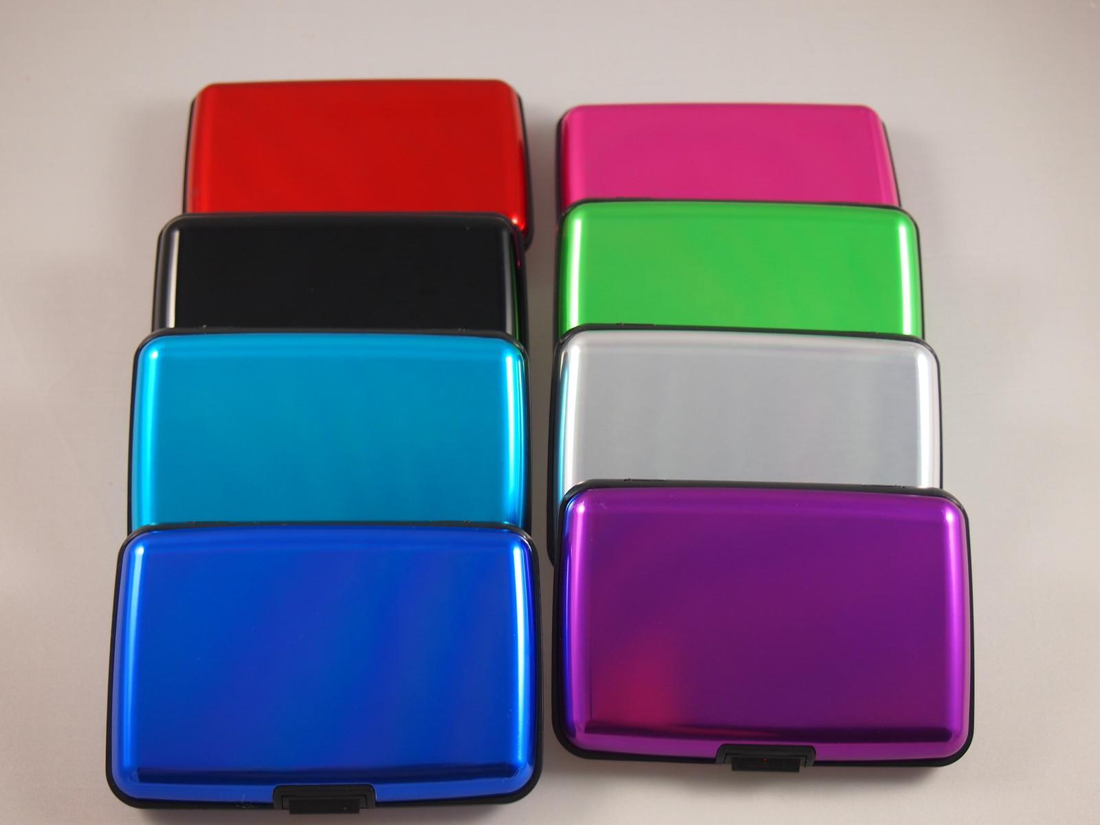 aluminum rfid blocking credit card business wallet case card