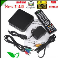 Wholesale New by FedEx or DHL NEW Android Google TV Box ARM Cortex A9 Internet TV Box DDR II M Set Top