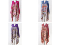 Wholesale fashion women s Tassel Totem print shawls wraps scarves cape