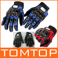 Wholesale Motorcycle Men New Racing Bike Bicycle Cycling Full Finger Protective Gloves Black Red Blue H8638Z