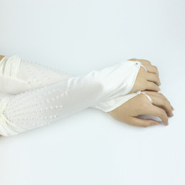 Wholesale Bridal Glove Wedding Gloves Fold satin No finger DB_002