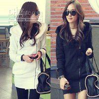 Wholesale women hoodies camoFleece thicken zip cardigan full sleeve ladies hooded low price for