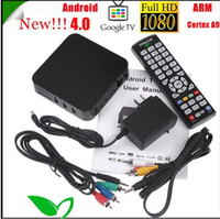 Wholesale New NEW Android Google TV Box ARM Cortex A9 Internet TV Box DDR II M Set Top Box