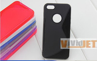 Wholesale High Quality S Line Soft TPU Gel Skin Case Cover for iPhone iPhone5 Free Ship