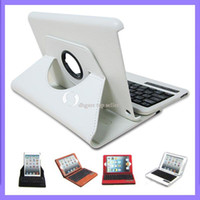 Wholesale 7 inch Leather Case amp bluetooth keyboard degree of rotation colors For Mini ipad
