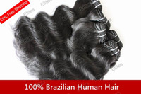 Wholesale Mix Length quot quot Brazilian Virgin Remy Human Machine Hair Weft g HWT001