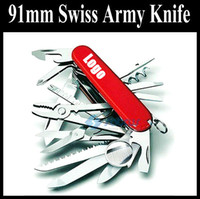 Wholesale 91mm Stainless Steel Multifunction Army Knife Camping Hiking Knife Tools